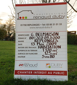 Renaud duby vous accompagne dans la r alisation de votre - Acces chantier maison individuelle ...